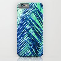 iPhone & iPod Case featuring Tropical Palm Blue by Amy Sia