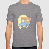 Go Exploring Mens Fitted Tee Tri-Grey SMALL