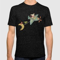 Bear Mens Fitted Tee Tri-Black SMALL