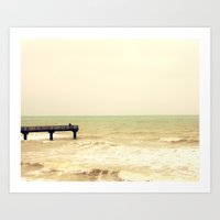 The Pier Is For Fishing Art Print