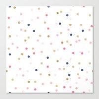 Round Confetti Pattern Canvas Print