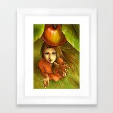 Last apple this summer Framed Art Print