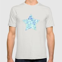 Blue lagoon Mens Fitted Tee Silver SMALL