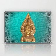 Golden Buddha In Blue Pa… Laptop & iPad Skin
