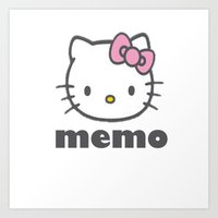 hellokitty2 Art Print
