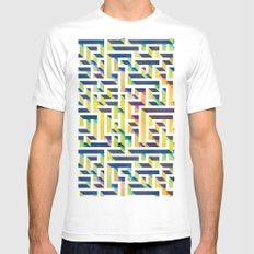 Maze Mens Fitted Tee White SMALL