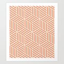 Geometric Coral Art Print