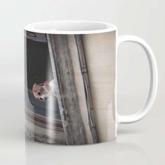take me with you _ Beagle in a window Mug