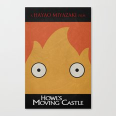 Howl Castle Poster Canvas Print