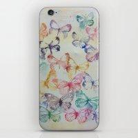 Butterflies II iPhone & iPod Skin