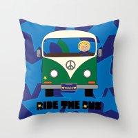 Ride the Bus - Boy Throw Pillow