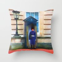 Queens Guard Throw Pillow