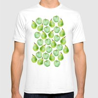 Apples And Pears Mens Fitted Tee White SMALL