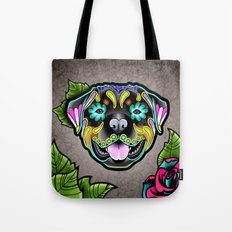 Rottweiler Day of the Dead Sugar Skull Dog Tote Bag