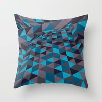 Triangulation (Inverted) Throw Pillow