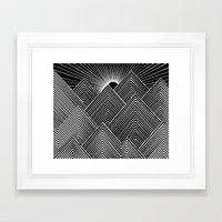 Mountains Framed Art Print