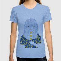 Autumn In Your Face Womens Fitted Tee Athletic Blue SMALL