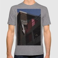 Park Here Mens Fitted Tee Athletic Grey SMALL