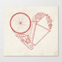 Love Bike Canvas Print