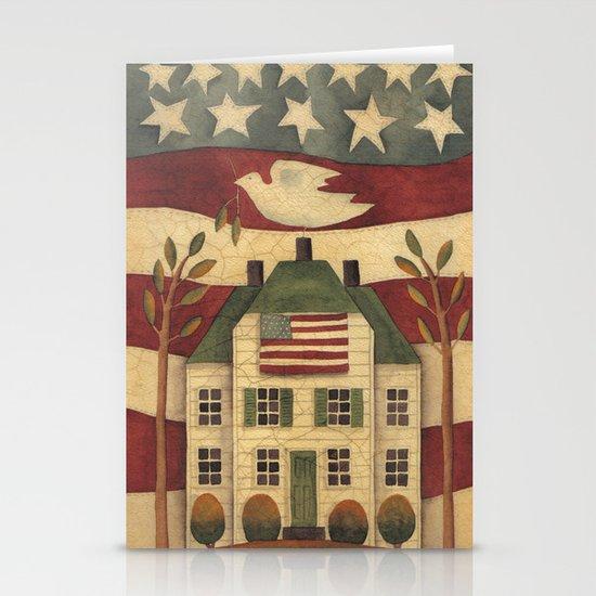 Where Freedom Dwells Stationery Card