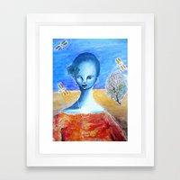 She Sang for the Dragonflies Framed Art Print