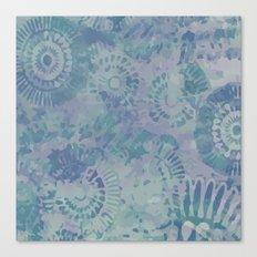 Relaxing Blues anfd Purples flower pattern Canvas Print