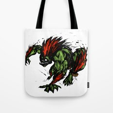 Blanka Rush! - Street Fighter Tote Bag