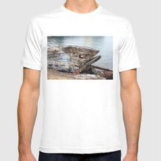 Fish Boat SMALL White Mens Fitted Tee