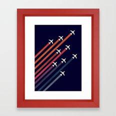 Aerial acrobat Framed Art Print