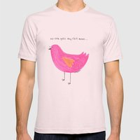 this bird is actually a frustrated poet Mens Fitted Tee Light Pink SMALL