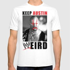 Keep Austin WWEird Mens Fitted Tee White SMALL