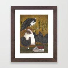 Ira's Hens Framed Art Print