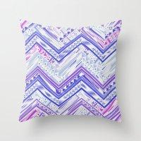 PURPLE ETHNIC CHEVRON Throw Pillow
