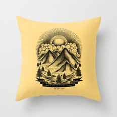 FIND A BEAUTIFUL PLACE TO GET LOST (Yellow) Throw Pillow
