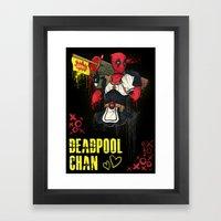 Dead Pool-chan Framed Art Print