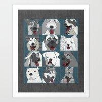Dogs Vertical Art Print
