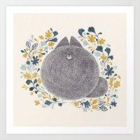 Kitch Cat Art Print