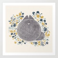 kitch cat Art Print