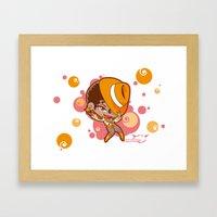 Bee-J Color3 Framed Art Print