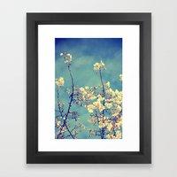 Blossoms On Blue Sky Framed Art Print