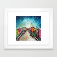 The Street Near My Stree… Framed Art Print