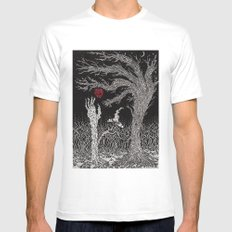 Apple Tree White Mens Fitted Tee SMALL
