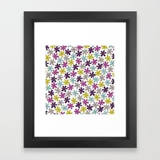Allium Ditsy Framed Art Print