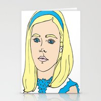 mad men Stationery Cards featuring Sally Draper - Mad Men by Aishling K