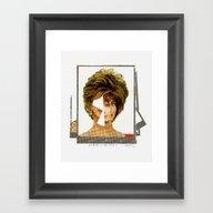 Disaster In Her Face · … Framed Art Print