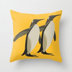Penguins mate for life Throw Pillow