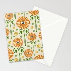 Retro Sunflower Pattern - Susan Weller Stationery Cards