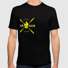 Forged Mens Fitted Tee Black SMALL