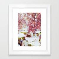 SNOW DAY - 015 Framed Art Print
