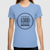 Psalm 23:1 Womens Fitted Tee Tri-Blue SMALL